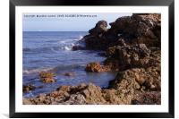COASTAL SEA, Framed Mounted Print