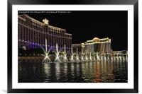 Bellagio Fountains., Framed Mounted Print