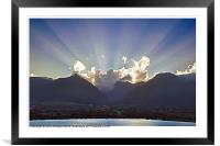 Rays., Framed Mounted Print