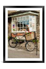 Baker's bike., Framed Mounted Print