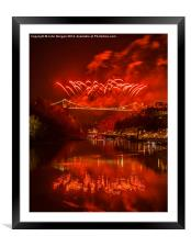 Bristols fireworks., Framed Mounted Print