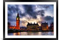 Big Ben, Framed Mounted Print