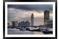London skyline, Framed Mounted Print