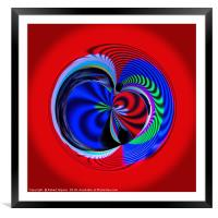 Colours of the sphere, Framed Mounted Print
