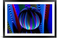 Colours in the crystal ball, Framed Mounted Print