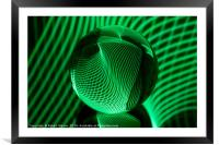 Green in the glass ball, Framed Mounted Print