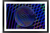 Bright lines in the ball, Framed Mounted Print