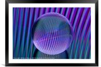Crystal ball lines 3, Framed Mounted Print