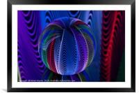 Many colours in the glass, Framed Mounted Print