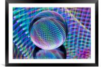 Magic lights in the glass ball, Framed Mounted Print