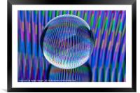 lights in the globe, Framed Mounted Print