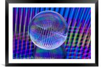 Criss Cross lights in the ball, Framed Mounted Print