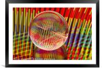 Criss Cross lights in the crystal ball, Framed Mounted Print