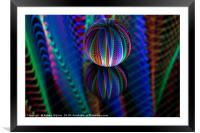 Amazing colours in the glass ball, Framed Mounted Print