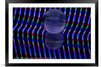 Vertical colours in the glass ball, Framed Mounted Print