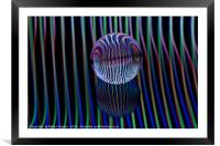 Eyes in the glass ball, Framed Mounted Print
