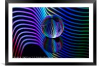 Rainbows in the glass ball., Framed Mounted Print