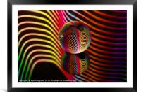 Rainbows two in the glass ball., Framed Mounted Print