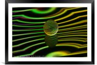 Floating glass ball abstract., Framed Mounted Print