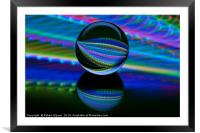 All colours in the glass ball, Framed Mounted Print