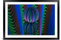 Abstract art Segments in the crystal ball, Framed Mounted Print