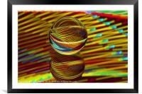 Abstract art Golden ball, Framed Mounted Print
