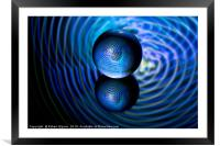 Blue in the crystal ball, Framed Mounted Print
