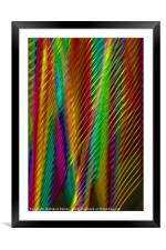 Feathers in Abstract, Framed Mounted Print