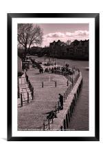 Kings Staith Landing. York., Framed Mounted Print