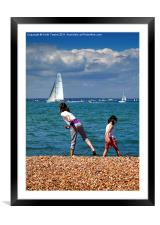 Carefree Days Canveses & Prints, Framed Mounted Print
