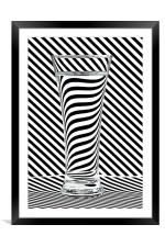 Striped Water, Framed Mounted Print