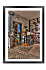 Ye Olde Sweet Shoppe Painterly, Framed Mounted Print