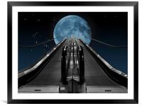 Take Me To The Moon, Framed Mounted Print