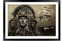 Welsh Mining Heritage, Framed Mounted Print