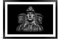 Miners In The Dark, Framed Mounted Print