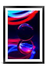 The Light Painter 7, Framed Mounted Print