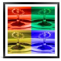 Pop Art Water Drops 1, Framed Mounted Print