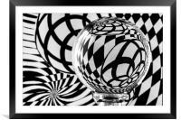 Crystal Ball Op Art 1, Framed Mounted Print
