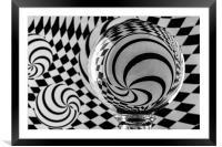 Crystal Ball Op Art 4, Framed Mounted Print