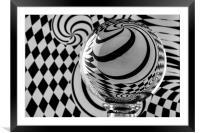 Crystal Ball Op Art 6, Framed Mounted Print