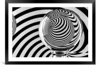 Crystal Ball Op Art 9, Framed Mounted Print