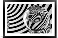 Crystal Ball Op Art 10, Framed Mounted Print
