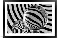Crystal Ball Op Art 11, Framed Mounted Print