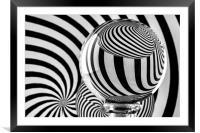 Crystal Ball Op Art 12, Framed Mounted Print