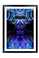 The Light Painter 53, Framed Mounted Print