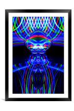 The Light Painter 54, Framed Mounted Print