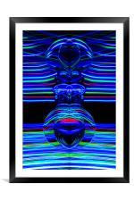 The Light Painter 64, Framed Mounted Print