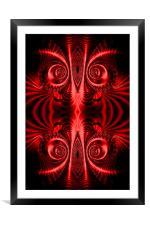 Flight of Fancy Red, Framed Mounted Print