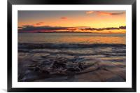 Sunset Over Fuerteventura, Framed Mounted Print