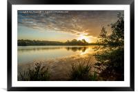 Norfolk Sunrise, Framed Mounted Print